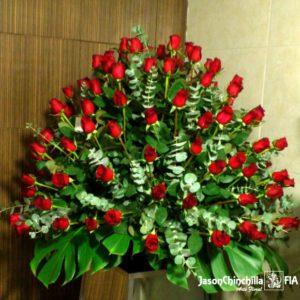 Canasta de rosas