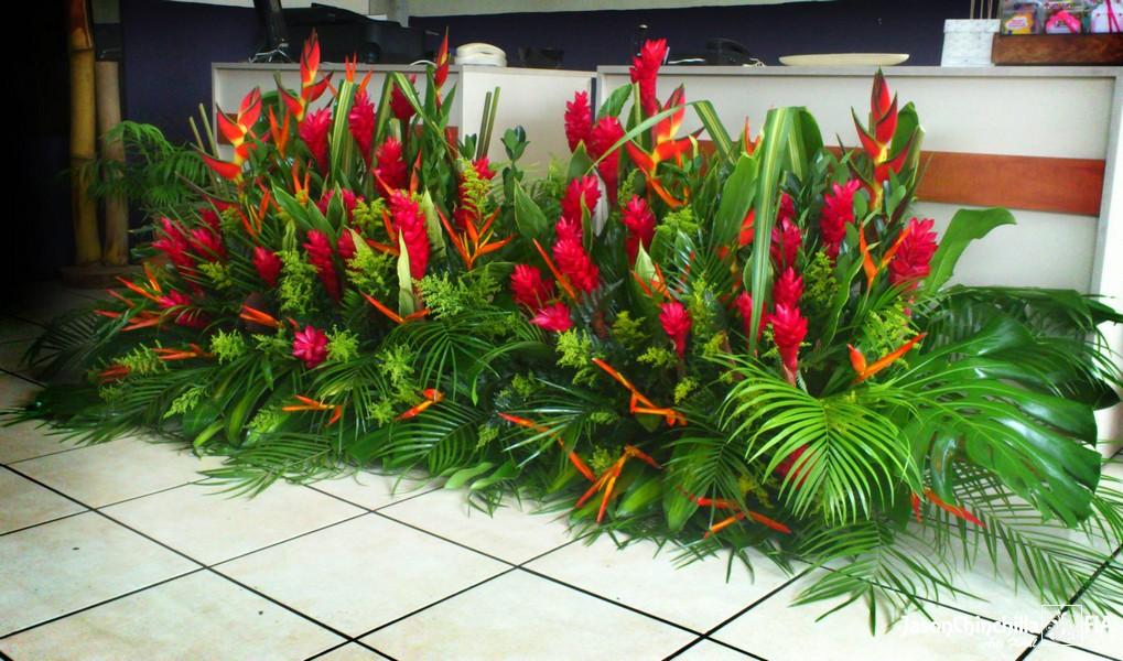 Eve1013 arreglo tropical tipo jardinera de flores para - Tipos de jardineras ...