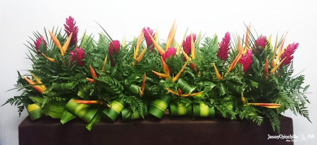 Eve1013 arreglo tropical tipo jardinera de flores para for Que plantas poner en una jardinera