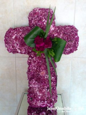 Corona floral funebre