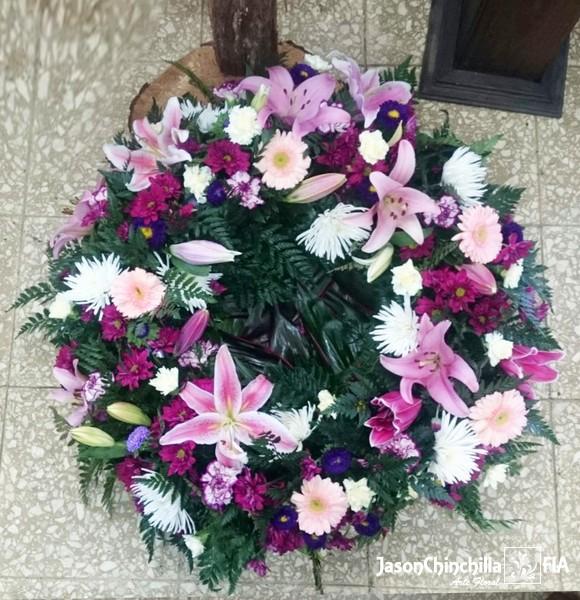 Corona en flores variadas