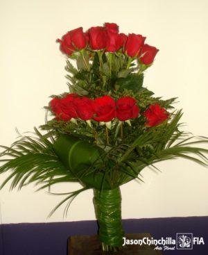 Ramo de rosas vertical