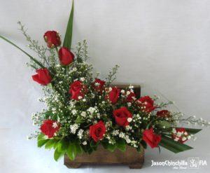 Baúl con rosas