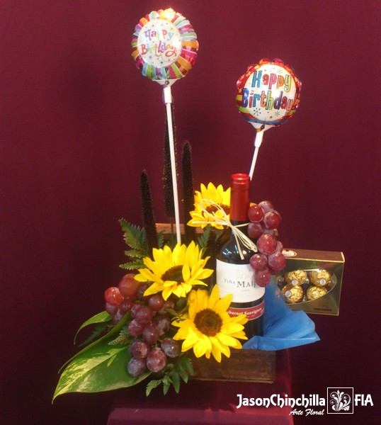 flores chocolates globos