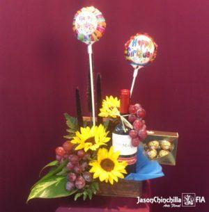 flores chocolates globos