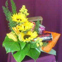 Baul con flores