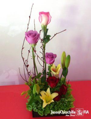 rosas y flores variadas