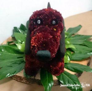 Perro de flores