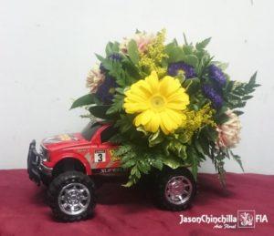 Carro con flores