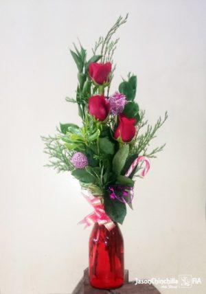 Florero con rosas