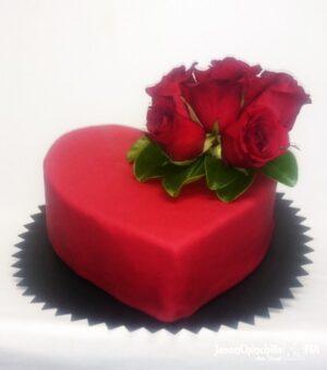 Queque con rosas