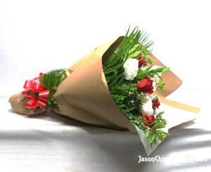 Rosas y peonias