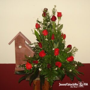 Fachada con rosas