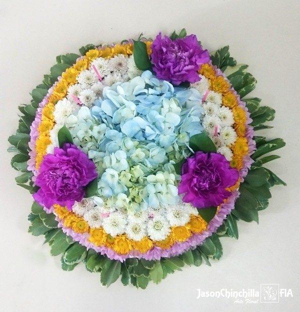 pastel de flores