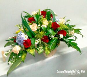 Carreta con rosas