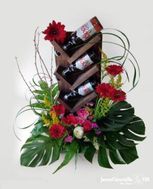 Flores y cerveza