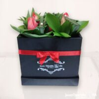 Caja con Tulipanes