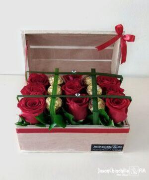 rosas y chocolates